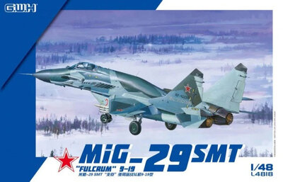 МиГ-29СМТ Fulcrum 9-19 истребитель - L4818 Great Wall Hobby 1:48