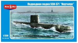 SSN-571 Nautilus АПЛ. 350-009 MikroMir 1:350