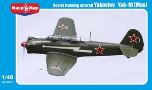 Як-18 учебно-тренировочный самолет - 48-011 MikroMir 1:48