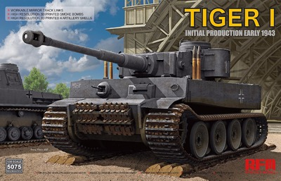 Tiger I (Тигр) Initial Prod. Early 1943 тяжелый танк - RM-5075 Rye Field Model 1:35