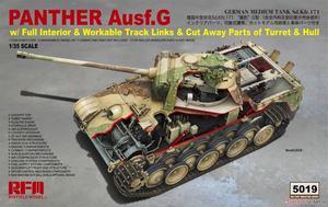 Panther Ausf.G (Пантера-Г ранняя / поздняя) с интерьером и разрезами - RM-5019 RyeField Model 1:35