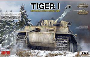 Tiger I Early Wittman's No S04 (Т-VI Тигр Виттмана) с интерьером и прозрачными деталями - RM-5025 RyeField Model 1:35