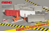 Concrete & Plastic Barrier Set - SPS-012 Meng 1:35