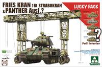 Fries Kran 16t Strabokran & Panther Ausf A  (дорожный ремонтный кран и Пантера-А с полным интерьером) - 2108 Takom 1:35