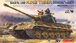 German Heavy Tank Sd.Kfz.182 King Tiger (Henschel Turret) - TS-031 Meng 1:35