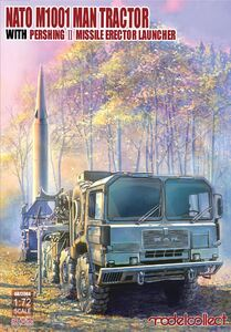 M1001 MAN Tractor & Pershing II Missile Launcher - UA72084 Modelcollect 1:72