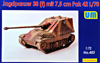 Jagdpanzer 38(t) немецкая САУ с 7.5cm Pak 42 L/70 - UM-485 Unimodel 1:72