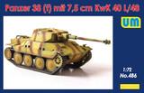 Panzer 38(t) 7.5 cm KwK 40 l/48 легкий танк - UM486 UM 1:72