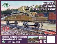 Железнодорожная платформа для перевозки техники - UMmt-643 UM Military Technics 1:72