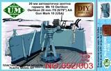 Mark 10 палубная зенитная установка Oerlikon 20-мм /70 - UMmt-652 UM Military Technics 1:72