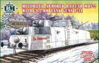 МБВ-2 мотоброневагон с танковыми пушками Ф-34 - UMmt-677 UM Military Technics 1:72